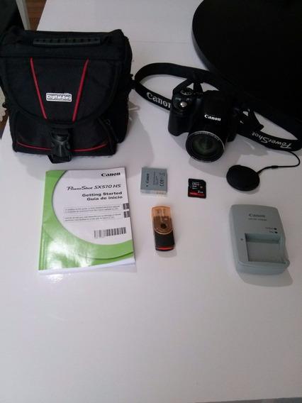 Camera Canon Sx510 Hs Zoom 30x Full Hd Com Frete Gratis!!!