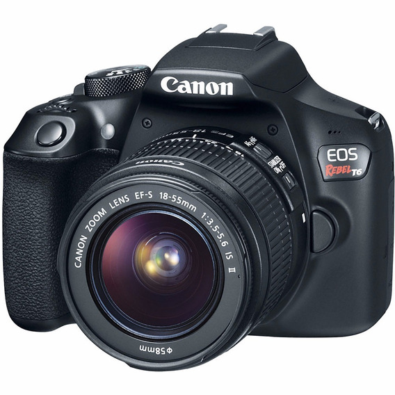 Camera Canon Dslr Eos Rebel T6 Com Lente 18-55mm Is Ii