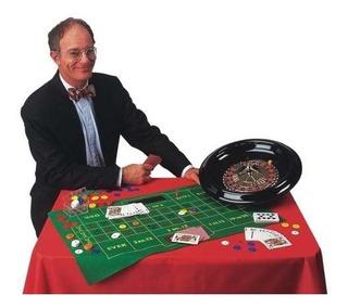 Set Ruleta Grande De Casino Blackjack + Fichas Poker + Carta