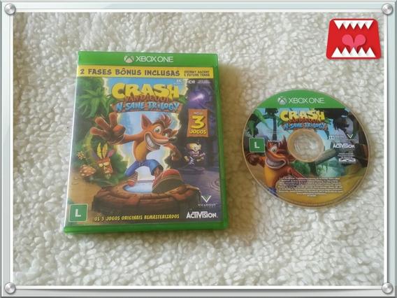 Jogo Crash Bandicoot N Sane Trilogy Xbox One Mídia Física