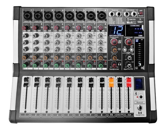 Consola Pasiva De 8 Entradas Vento Mix8fx