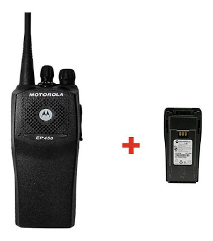 Radio Portatil Motorola Ep450s Vhf / Uhf + Bateria Extra