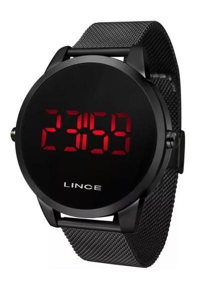Relógio Lince Preto Led Vermelho Novo!