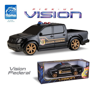 Carro De Polícia Pick-up Vision Federal Hilux 35 Cm - Roma