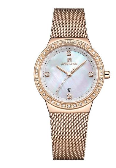Relógio Naviforce Feminino Fashion Luxo Lançamento