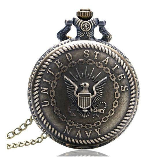 Collar Reloj Usa Navy Marines Usa Metálico Marina Militar