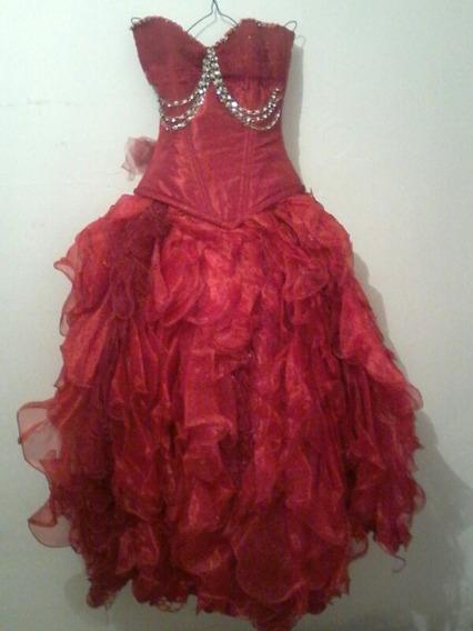 Vestido De Xv Años Color Rojo Nuevo
