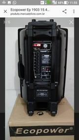Caixa Amplif. Ecopower 15p 400 Rms, Bluetooth/usb