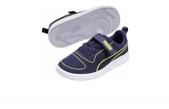 Tenis Puma Azules Niño 2632803 Original And.dep