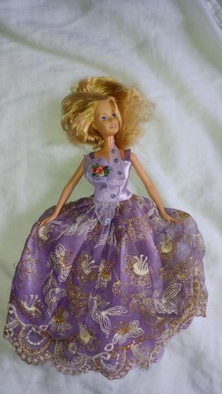 Boneca Barbie Original Vestido Lilas