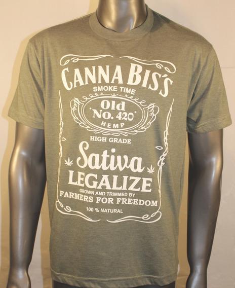 Remeras Cannabis Sativa Algodón Melange The Flea La Locarola