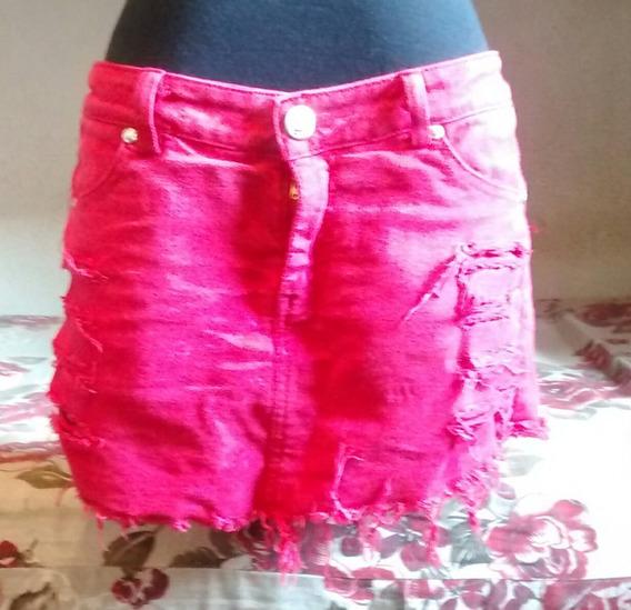 Saia Shorts, Adulto,cor:vermelha,ótimo Estado