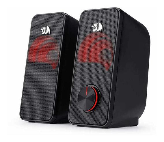 Caixa De Som Redragon Stentor 2.1 Led Vermelho Gs500