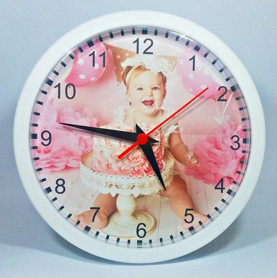 25 Relógios De Parede Personalizados Com A Foto Que Desejar (grande 24cm) - Empresas- Celebrações- Em Caixas Individuais
