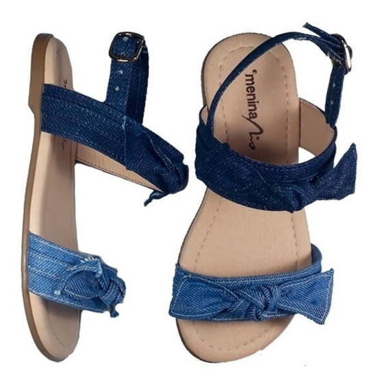 Sandália Infantil Jeans - Menina Rio