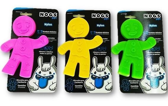 Brinquedo Diferente Nylon Cachorro Mordedor Biscoito Nogs