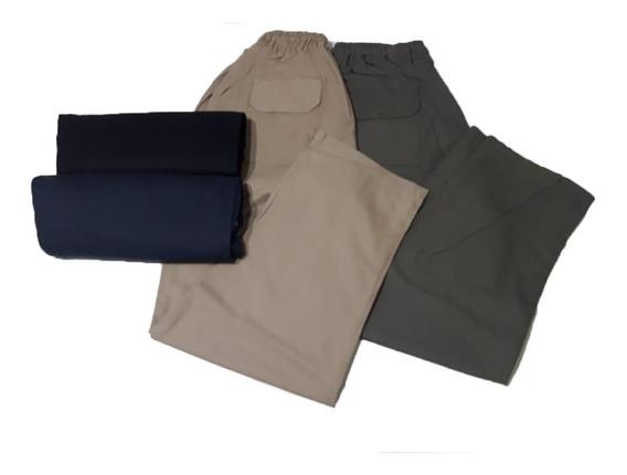 Pantalón Náutico Hombre T Grandes Elastico T Del 54 Al 80