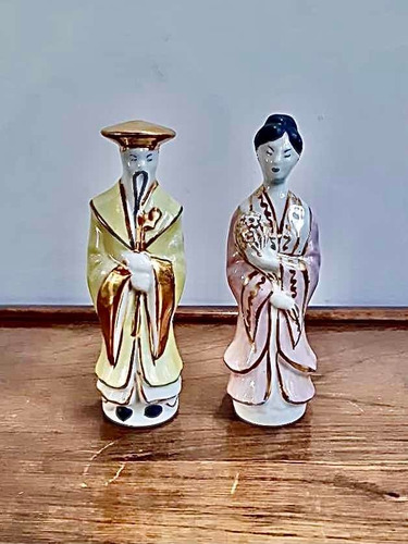 Imagen 1 de 6 de Antiguas Figuras Japonesas De Porcelana