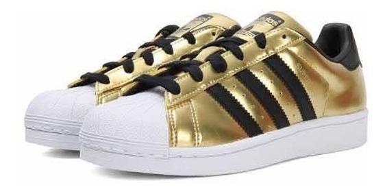 Tenis adidas Superstar Dorados W