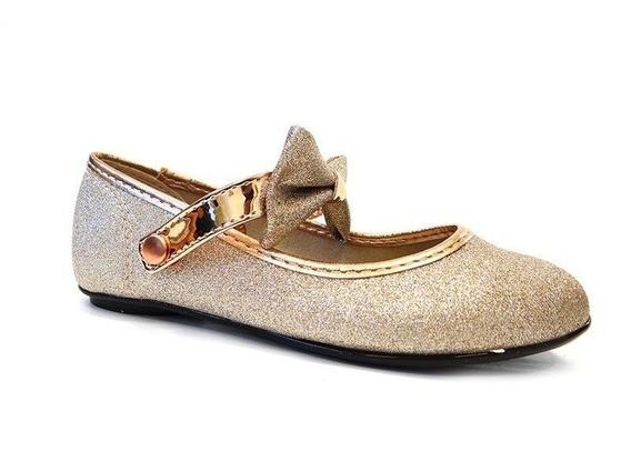 Sapatilha Infantil 2083.867 - Molekinha (15) - Dourado/ouro