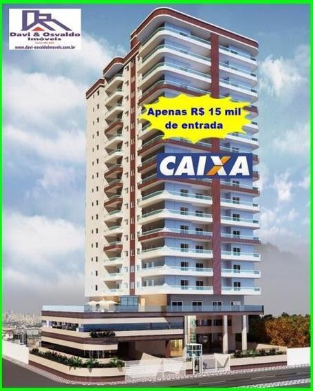 Apartamento 2 Dormitórios Para Venda Em Praia Grande, Guilhermina, 2 Dormitórios, 1 Suíte, 1 Banheiro, 2 Vagas - Ap00113