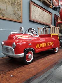 Pedal Car Antigo - Dep Bombeiros - Americano - Original