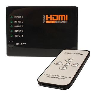 Data Switch Hdmi Noganet 5 Hdmi In 1 Hdmi-sw5 T 5 E 1 Remoto