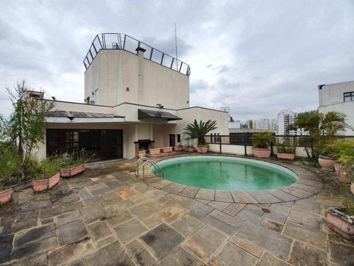 Cobertura Venda Campo Belo Duplex Com 4 Suites, 650m², 6 Vagas De Garagem Na Rua Pascal, 260 - Campo Belo. - Co0215