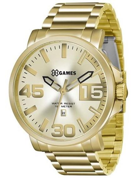 Relógio X-games Masculino Dourado Aço Xmgs1018c2kx