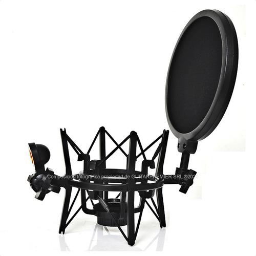 Soporte Microfono Shock Mount Araña Anti Pop Sm6 Profesional