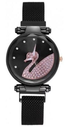 Relógio Casual Feminino Swan / Preto