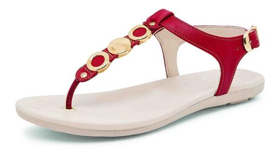 Sandalia De Piso Flexi 34802 Rojo Para Dama