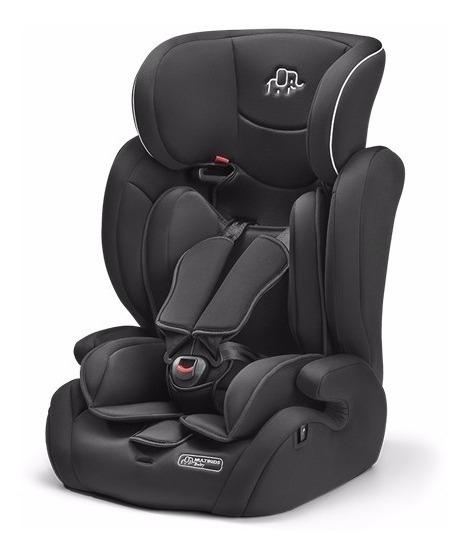 Cadeirinha Carro Infantil Encosto Regulável Multikids Black