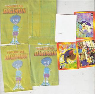 Lote Oferta: 250 Paquetes Figuritas- Digimon