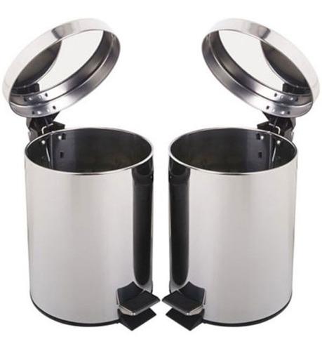 Set X2 Papeleras 5 Lts Baño Oficina Cocina Recepción Caneca