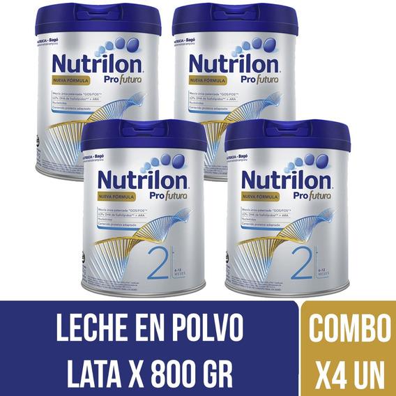 Nutrilon Profutura 2 Leche Infantil 800 Gr Combo X 4 Latas