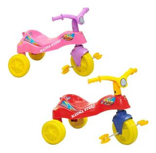 Triciclo Infantil Plastico Economico Rayo Biemme 1 A 3 Años