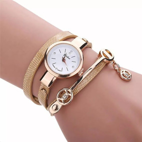 Kit 4 Relógios Feminino Pulseira Em Couro Retro Vintage