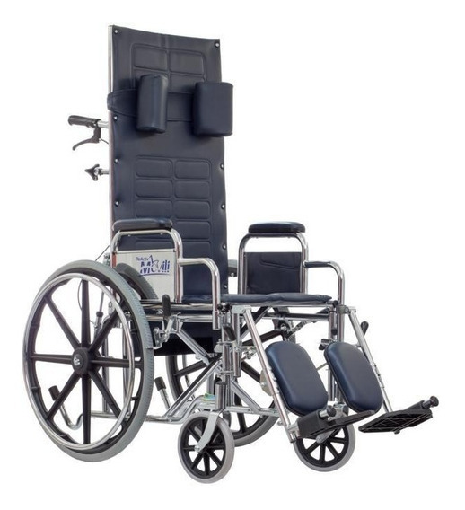 Silla De Ruedas Reclinable Movili Con Elevapiernas - Reactiv