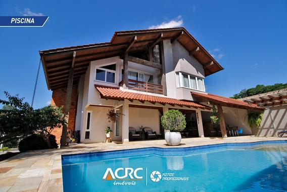 Acrc Imóveis - Casa Semi Mobiliada De Alto Padrão Para Venda No Bairro Itoupava Seca - Ca01207 - 34668187