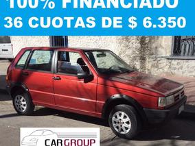 Fiat Uno 5 Ptas. 100% Financiado En 36 Cuotas De $ 6350