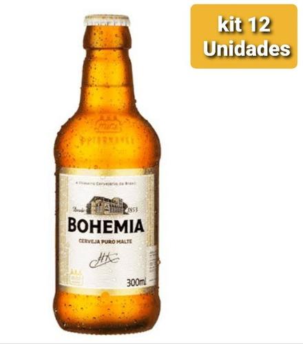 Kit Com 12 Unid Cerveja Bohemia 600ml Puro Malte