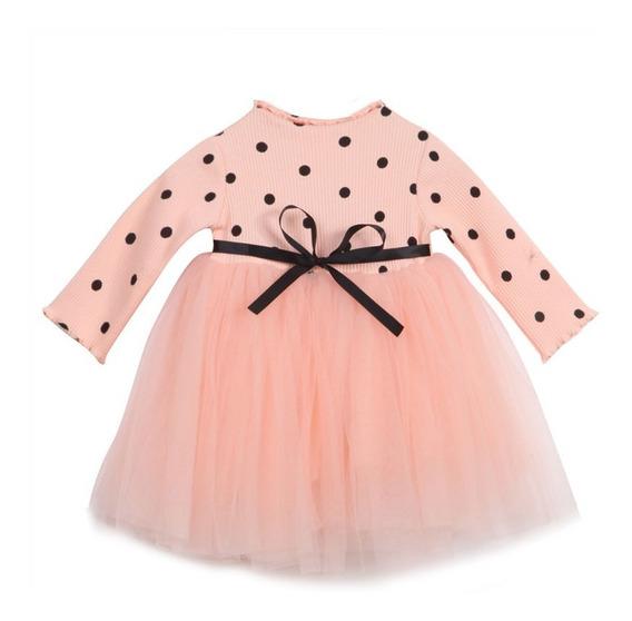 Hermoso Vestido Elegante De Niña Fiesta #7 Decorado Bolitas