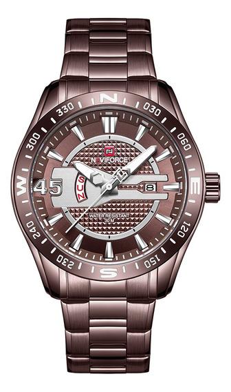 Naviforce 9157 Homem Relógio De Quartzo Impermeável Ao Ar
