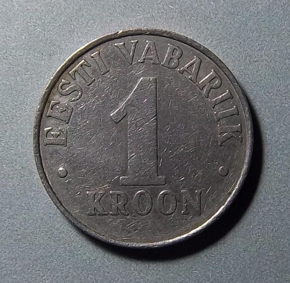 Estonia 1 Korona 1993 Muy Bueno Km 28