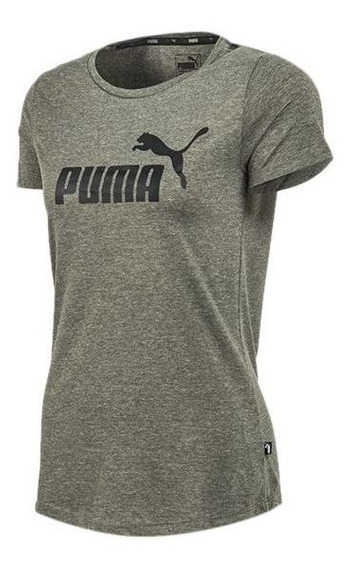 Puma Remera Essential Logo Heather W Car Mcte2382