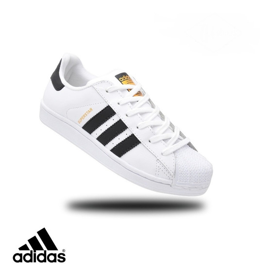 Tenis adidas Superstar Foundation Masculino Couro Original