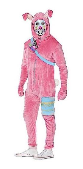Disfraz Adulto Rabbit Raider Traje Fortnite Conejo Rosa
