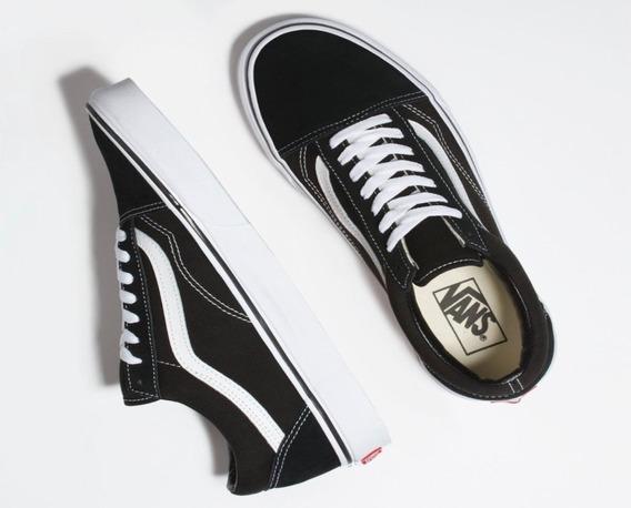 Tênis Vans Old Skool Black White Vn000d3hy28 Original