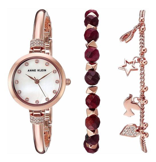 Relógio Anne Klein Ladies Swarovski Rose Ak/2840rjas